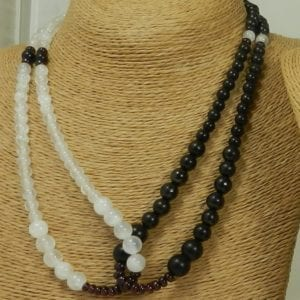 Intertwine Selenite / Shungite Necklace